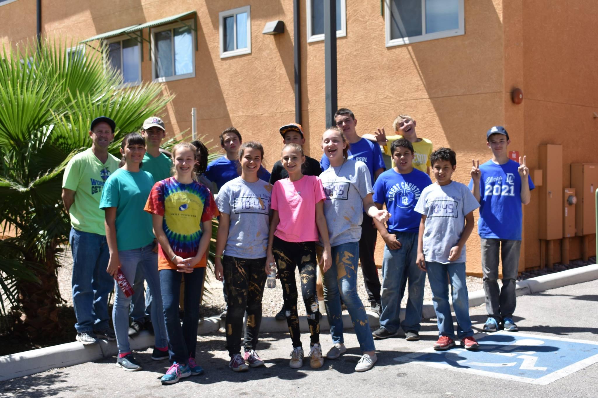Desert Christian Schools Volunteer at GV 2017